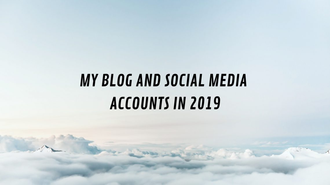 MY blog and social media in 2018