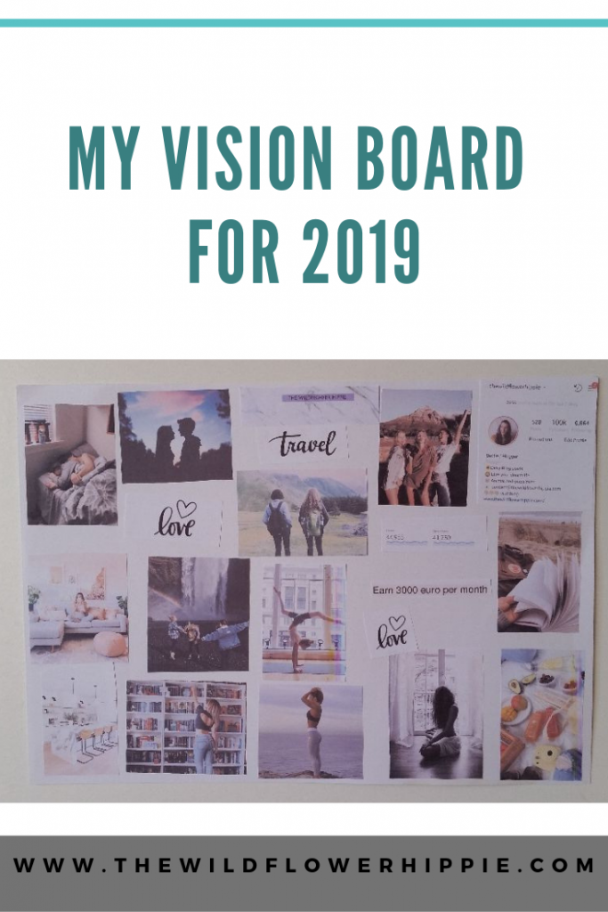 my vision board for 2019