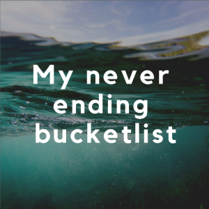 my never ending bucketlist